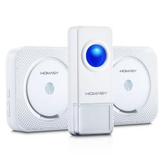 Homasy Wireless Doorbell with 1 Remote Button and 2 Plugin Receivers