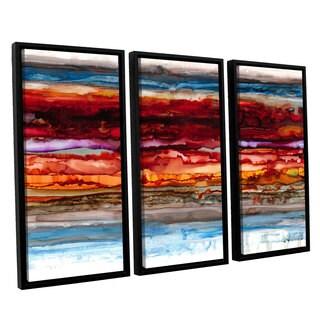 ArtWall Norman Wyatt JR's 'Innermost' 3-piece Floater Framed Canvas Set