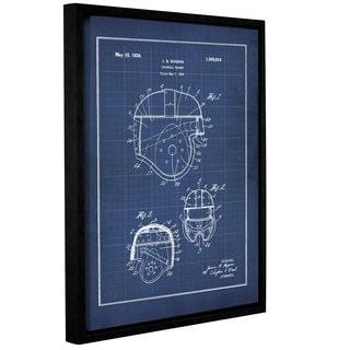 ArtWall Jo Moulton's 'Vintage Football Helmet' Gallery Wrapped Floater-framed Canvas