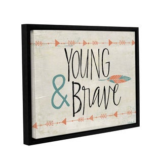 ArtWall Katie Doucette's 'Young And Brave' Gallery Wrapped Floater-framed Canvas