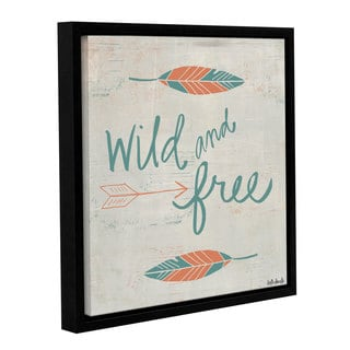 ArtWall Katie Doucette's 'Wild And Free' Gallery Wrapped Floater-framed Canvas