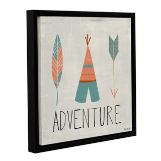 ArtWall Katie Doucette's 'Adventure' Gallery Wrapped Floater-framed Canvas