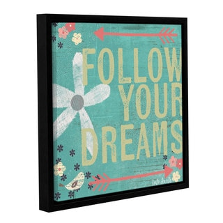 ArtWall Katie Doucette's Follow Your Dreams, Gallery Wrapped Floater-framed Canvas