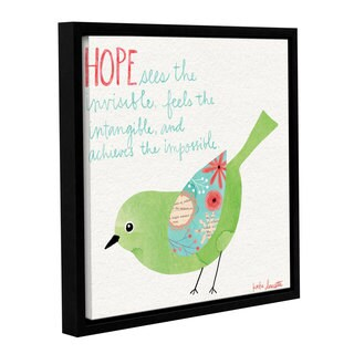 ArtWall Katie Doucette's Hope To Dream' Gallery Wrapped Floater-framed Canvas