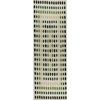 Hand-Tufted Indo Dublin Green Rug (2'8 x 7'10)