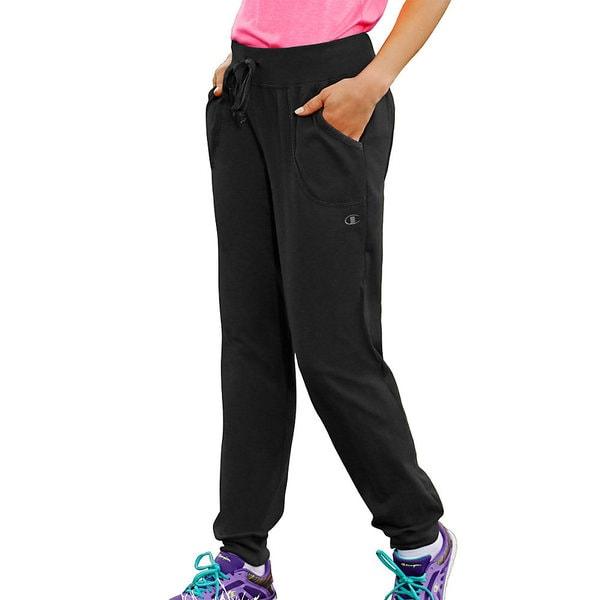 707b191fa0fa7b Clothing   Shoes     Women s Sport Clothing     Athletic Clothing      Warm-Ups. Champion Women  x27 s Jersey Pocket Pants