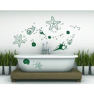 Starfish and Clams Wall Decal