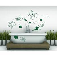 Starfish and Clams Wall Decal
