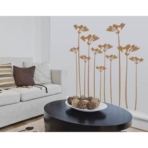 Flower Stalks Wall Decal