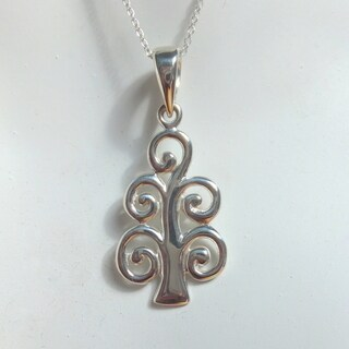 Handmade Tree of Life Sterling Silver 18-inch Necklace (Indonesia)