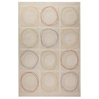 M.A. Trading Hand-tufted Indo Circa White Rug (5' x 7')