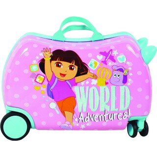 Dora the Explorer Cruizer Adventures Ride-On 16-inch Hardside Rolling Suitcase