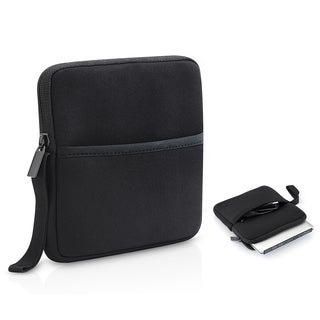 External CD/ DVD/ Blu-Ray/ Hard Drive Neoprene Storage Carrying Case with Storage Pocket