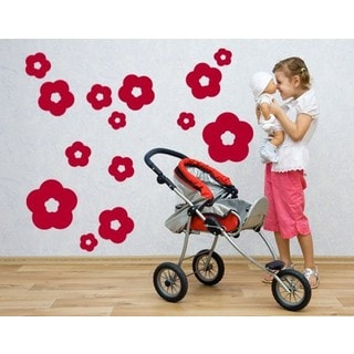Flower Rain Wall Decal