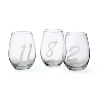 Hip Vintage Noir Wine Glasses (Set of 12)
