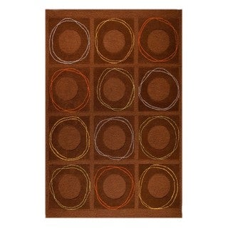 M.A. Trading Hand-tufted Indo Circa Brown Rug (5' x 7')
