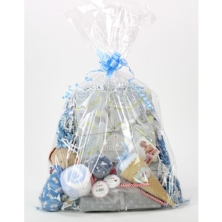 Sweet Baby Boy Toy and Blanket Gift Assortment
