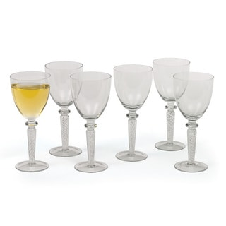 Hip Vintage Coil White Wine Glasses (Set of 6)