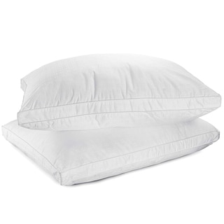 Link to Down Alternative Pillow 100-percent Cotton Top Bed Pillow by Mastertex (Set of 2) - White Similar Items in Pillows