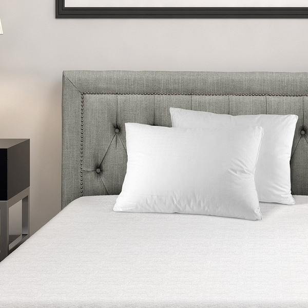 Down Alternative Pillow 100-percent Cotton Top Bed Pillow by Mastertex (Set of 2) - White