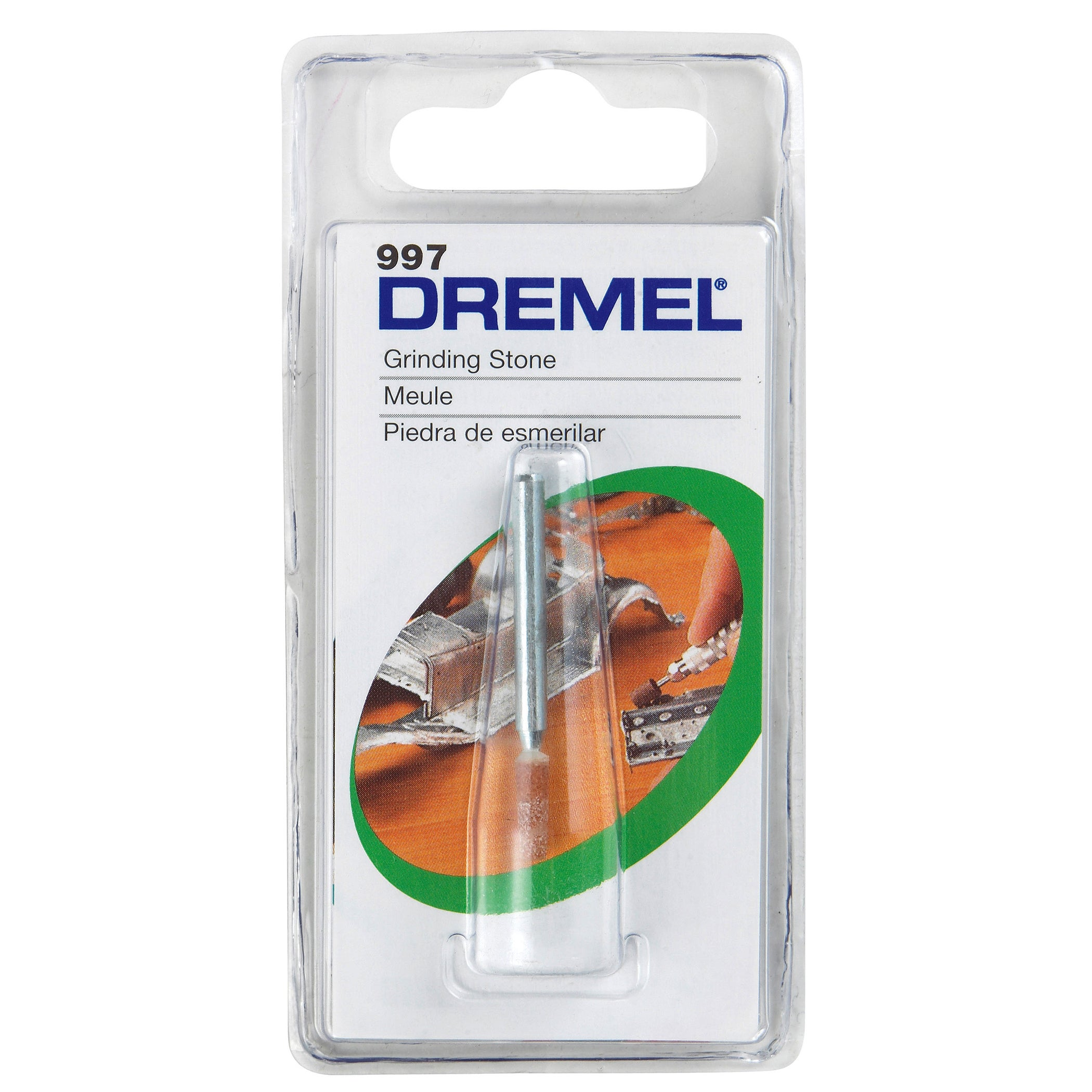 "Dremel 997 3/8"" Aluminum (Silver) Oxide Wheel Point (Powe..."
