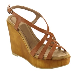Beston BC04 Women's Slingback Platform Wedges