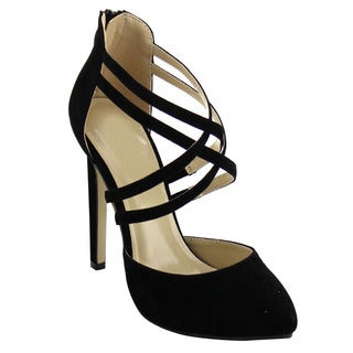 Beston BB97 Women's Criss Cross Strap Heels