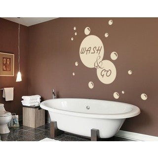Wash & Go Wall Decal