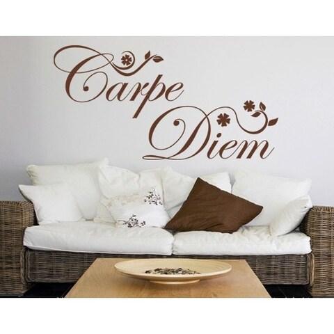 Carpe Diem-flowers Wall Decal