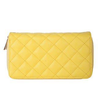 Rimen and Co. Double Zipper Quilted Faux Leather Wallet