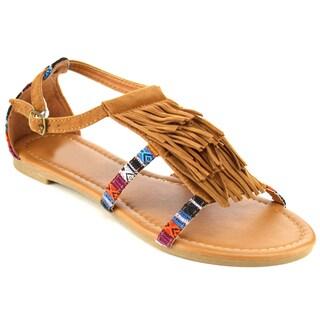 Beston FA91 Women's Fringe Flat Sandals