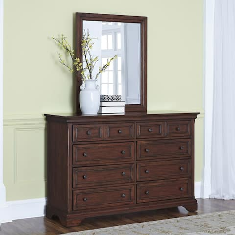 Lafayette 8-drawer Mahogany Dresser and Optional Mirror by Home Styles