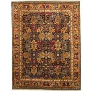 Herat Oriental Indo Hand-knotted Tabriz Wool Rug (8' x 10'3)