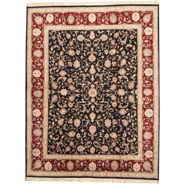 Herat Oriental Indo Hand-knotted Kashan Wool Rug (8'2 x 10'6)