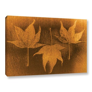 ArtWall Don Schwartz's 'Three Maple Leaves 2' Gallery Wrapped Canvas