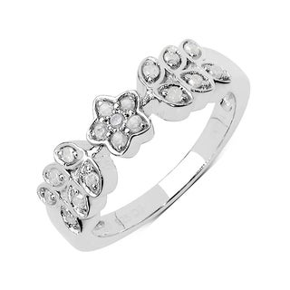 Olivia Leone Sterling Silver 1/10ct TDW Diamond Ring (I-J, I2-I3)