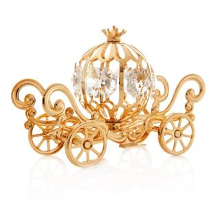 24k Goldplated Matashi Cinderella Pumpkin Coach Made with Genuine Matashi Crystals