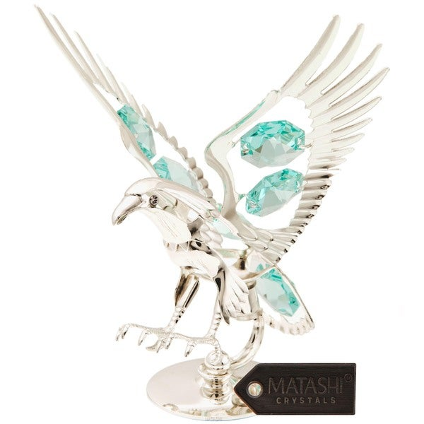 Silverplated Eagle Made with Genuine Matashi Crystals