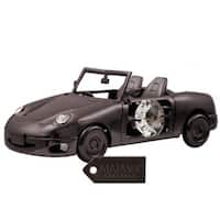Charcoal Metal Plated Car Made With Genuine Matashi Crystals