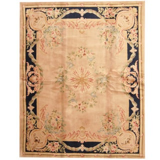 Herat Oriental Indo Hand-knotted Aubusson Wool Rug (7'9 x 9'9)