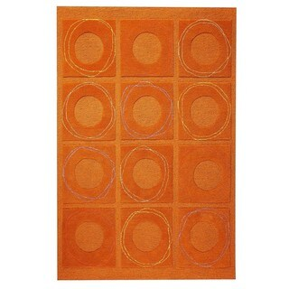M.A. Trading Hand-tufted Indo Circa Rust Rug (5' x 7')