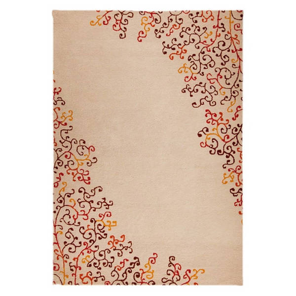 M.A.Trading Hand-Tufted Indo Sina Red/ Multi Rug (7'10 x 9'10)