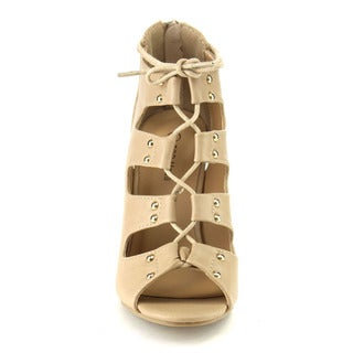 Beston CB97 Women's Peep Toe Gladiator Heels