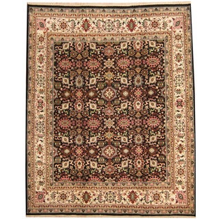Herat Oriental Indo Hand-knotted Mahal Wool Rug (8' x 9'9)