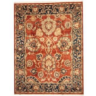 Herat Oriental Indo Hand-knotted Khorasan Wool Rug (8' x 10')
