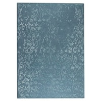 M.A.Trading Hand-Tufted Indo Santoor Turquoise Rug (5'6 x 7'10)