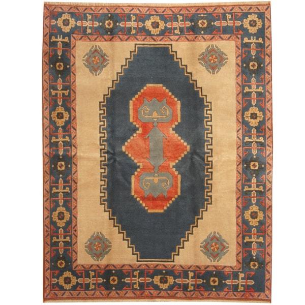 Handmade Herat Oriental Turkish Anatolia Wool Rug - 7'10 x 9'10 (Turkey)