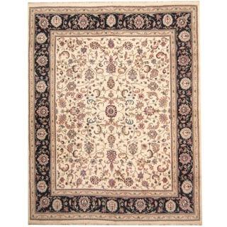 Herat Oriental Indo Hand-knotted Kashan Wool Rug (8'1 x 10'2)