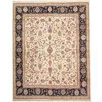 Herat Oriental Indo Hand-knotted Kashan Wool Rug (8'1 x 10'2)
