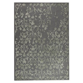M.A.Trading Hand-Tufted Indo Santoor Grey Rug (5'6 x 7'10)